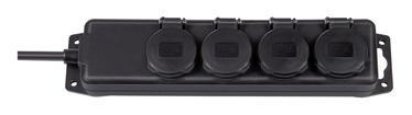 Brennenstuhl Power Strip 4-Outlet 230V 16A 2m Black
