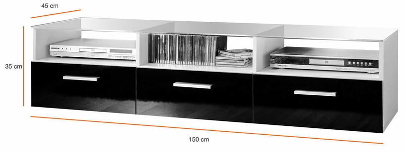ASM Fresh Living Room Wall Unit Set White/Black
