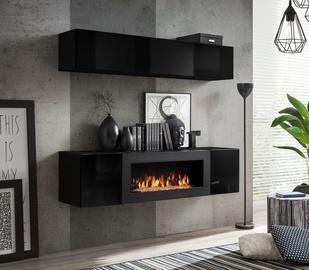 ASM Fly N1 Living Room Wall Unit Set Black