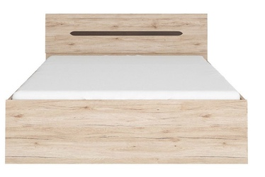 Voodi Black Red White Elpasso San Remo Oak, 160 x 200 cm