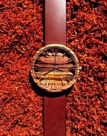 OVi Watch Zebrano Colours Wooden Watch