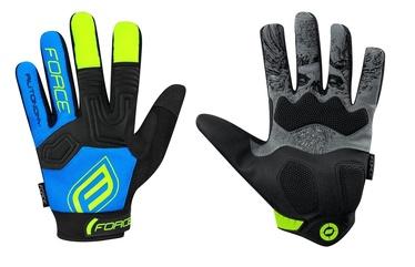 Force MTB Autonomy 17 Full Gloves Blue/Black L