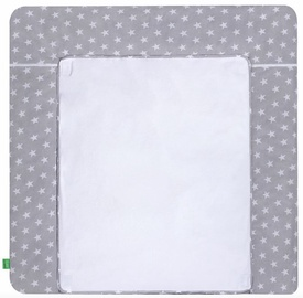 Lulando Changing Table Mat White Stars On Grey 75x80cm
