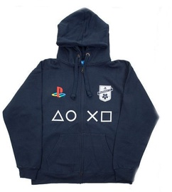Licenced Playstation FC Zip-Up Hoodie Dark Blue L