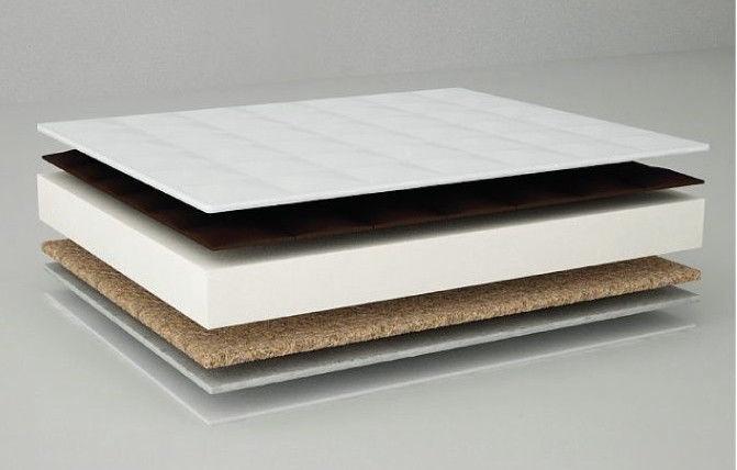 Danpol Coconut/Buchweat Shell Plus Antibacterial 120x60cm White