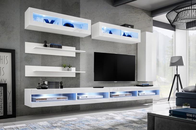 ASM Fly W Living Room Wall Unit Set White WW FY W2