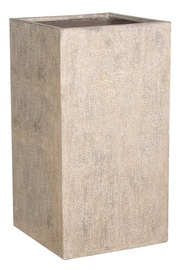 Home4you Sandstone Flowerpot 72445 25x25xH45cm Sand