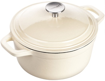 Lamart Cast Iron Pot with Lid LT 1060 Cream