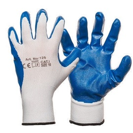 DD Nylon Knitted Gloves With Smooth Nitrile Coating 10