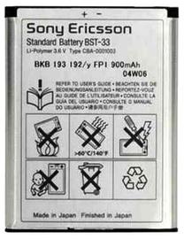 Sony Ericsson BST-33 Original Battery 950mAh