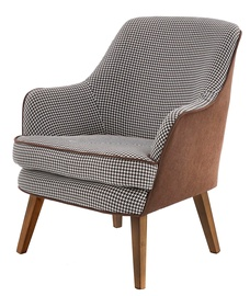 Halmar Telavivi Leisure Chair Black White Brown