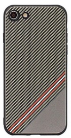 Mocco Trendy Grid And Stripes Pattern 1 Back Case For Samsung Galaxy S8 Brown