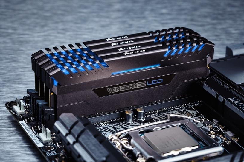 Corsair Vengeance BLUE LED 32GB 3000MHz CL15 DDR4 KIT OF 4 CMU32GX4M4C3000C15B