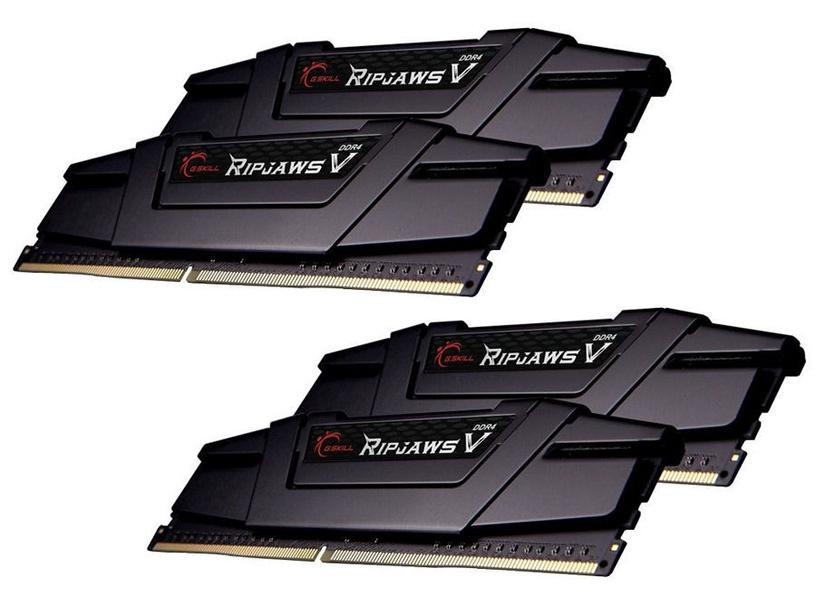 G.SKILL RipJawsV 64GB 3200MHz CL14 DDR4 KIT OF 4 F4-3200C14Q-64GVK