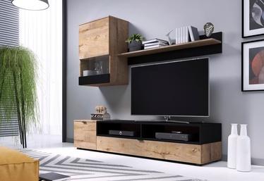 Halmar Snap Living Room Wall Unit Set Oak/Black Matt
