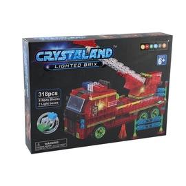 Konstruktor Crystaland Lighted Brix Firetruck 99031, 318 tk