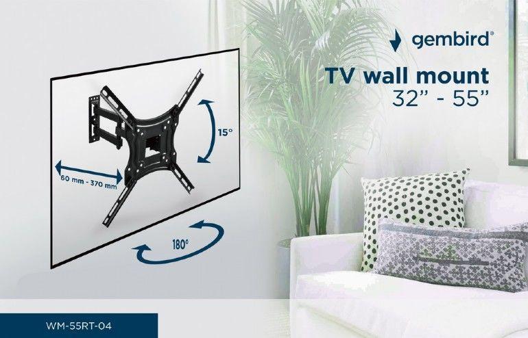 Gembird TV Wall Mount 32-55'' Black