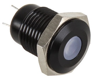 Lamptron Black Push Button LED Blue