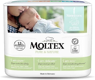 Moltex Pure & Nature Diapers NB 22
