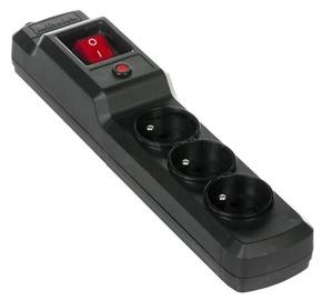 ActiveJet Surge Protector 3 Outlet Black 4.5m