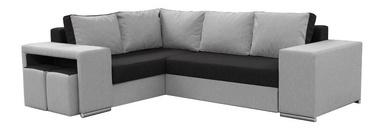 Nurgadiivan Idzczak Meble Macho Black/Grey, parem, 275 x 215 x 85 cm