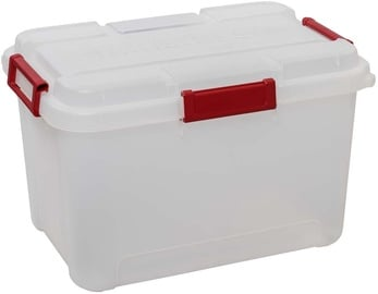 Curver Outback Box With Lid 60l Transparent/Red