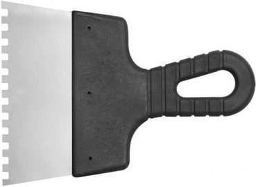 Vorel Stainless Toothed Scraper with Plastic Handle 150mm 6x6mm