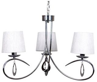 Candellux Arnika Hanging Ceiling Lamp 3X40W E14 Chrome /White