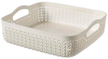 Curver Basket Knit Square 23x23x7cm White