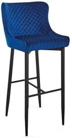 Барный стул Signal Meble Modern Colin B H-1 Velvet Blue/Black, 1 шт.