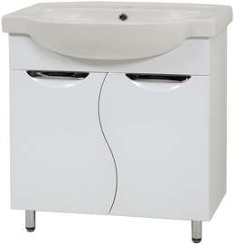 Vannitoakapp Sanservis Laura 65 XB 2D with Basin White 65x85x47.5cm