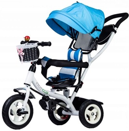 Kolmerattaline jalgratas EcoToys Three-wheeled Bike Blue-White