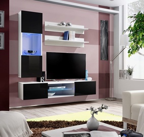 ASM Fly S3 Living Room Wall Unit Set Black/White