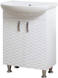 Sanservis 3D-55 Cabinet with Basin Arteko-55 White 55x84.5x44cm