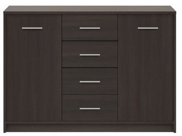 Black Red White Chest Of Drawers Nepo Plus Wenge