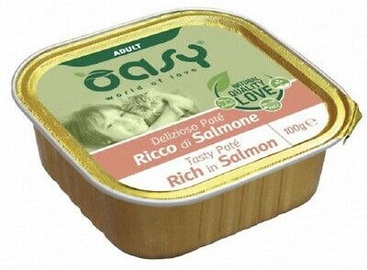 Oasy Tasty Pate Rich In Salmon Adult Cat Wet Food 100g