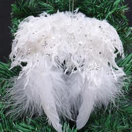 Jõulupuu ehe Christmas Touch Wings White, 1 tk