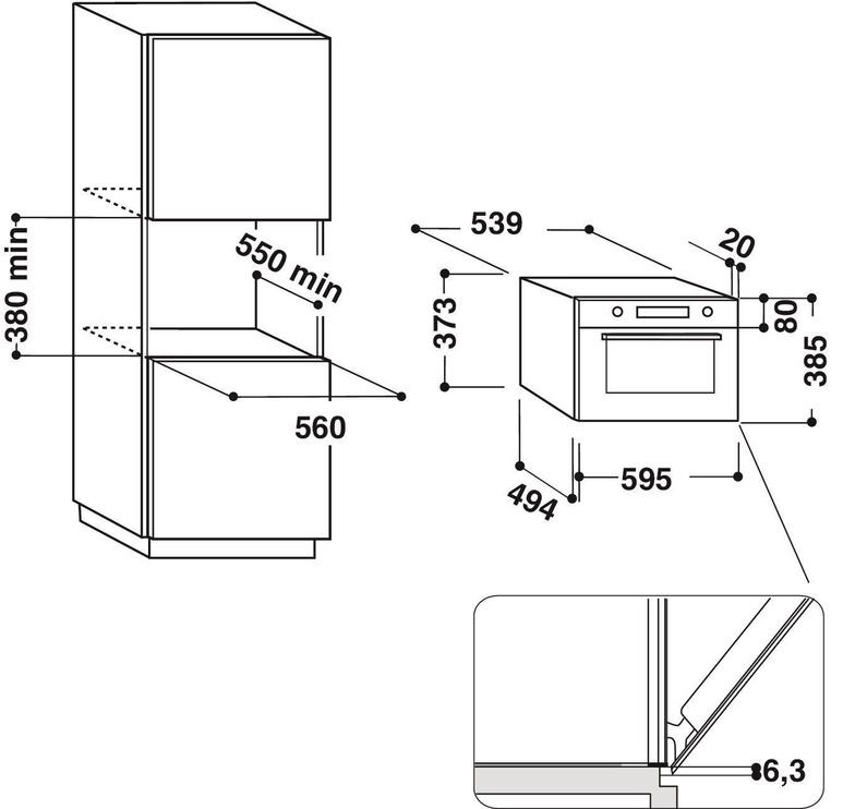 Integreeritav mikrolaineahi Hotpoint Ariston MD664WHHA