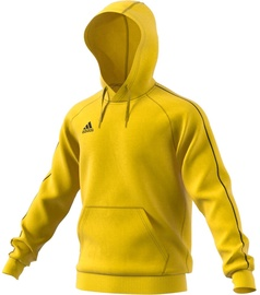Adidas Mens Core 18 Hoodie FS1896 Yellow L