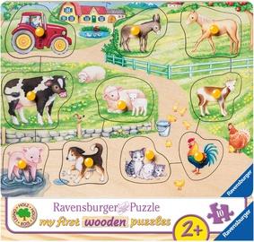 Pusle Ravensburger My First Wooden Farm 036899, 10 tk