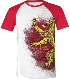 Licenced Game Of Throne Painted Lannister Raglan T-Shirt White/Red XL