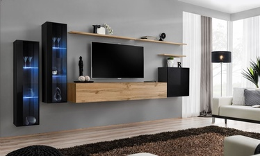 ASM Switch XI Wall Unit Black/Wotan Oak