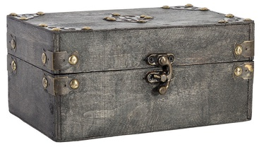 Home4you Chest BAO-2 20x11x9cm Antique Gray
