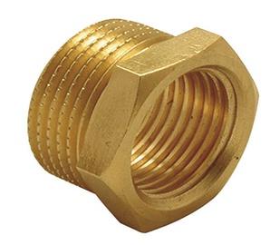 """TDM Brass Adapter 2""""x1 1/2"""" Brass"""