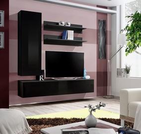 ASM Fly H Living Room Wall Unit Set Black/Black Gloss