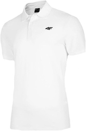 4F Mens Polo T-Shirt NOSH4-TSM008-10S White L
