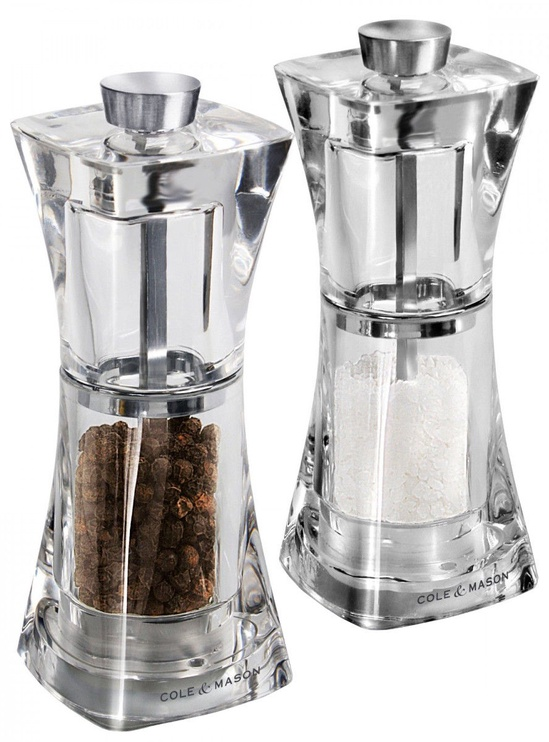 Cole and Mason Precision Crystal Acrylic Salt and Pepper Mill Set