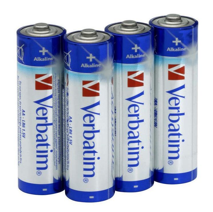 Verbatim Alkaline Batteries 4 x AA