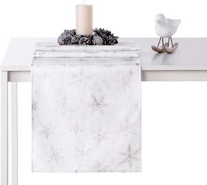 AmeliaHome White Christmas AH/HMD Tablecloth Silver 40x120cm