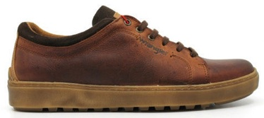 Wrangler Historic Derby Casual Leather Shoes Cognac Brown 45